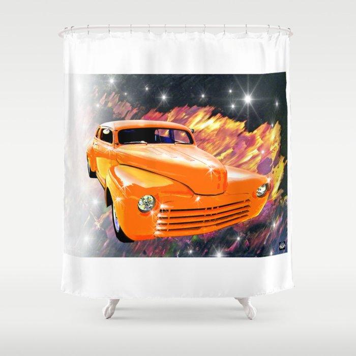 Great Pumpkin in the sky Shower Curtain