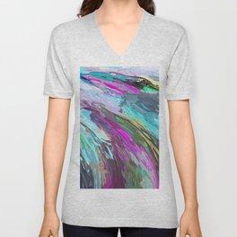 471 - Abstract colour Design Unisex V-Neck