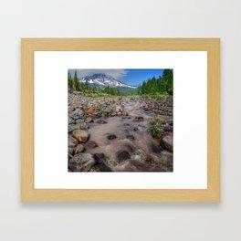 Glacier view Framed Art Print
