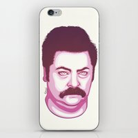 swanson iPhone & iPod Skins featuring Ron Swanson by Kristjan Lyngmo