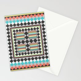 Tribal Patch Work Quilt Stationery Cards