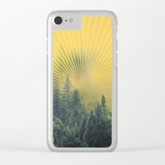 Golden Rays Forest #society6 Clear iPhone Case