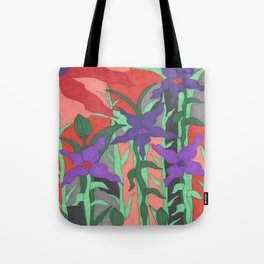 Twilight Sun Garden Floral Art Tote Bag