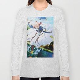 Floating Violet Long Sleeve T-shirt