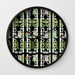 Cute pair of Koalas - Black Wall Clock