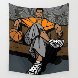 Street basketball player Wall Tapestry