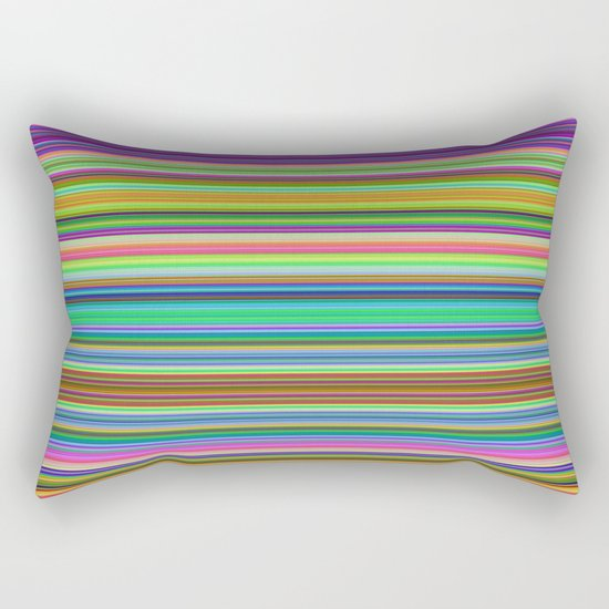 Summer Stripes – Clock 2 - Living Hell Rectangular Pillow