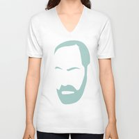freud V-neck T-shirts featuring FREUD by eve orea