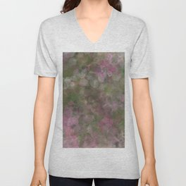 Rosen garden batic look Unisex V-Neck