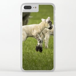 A Lamb with a Spring in Its Step Clear iPhone Case
