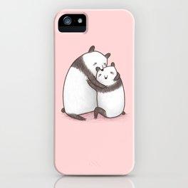 Panda Cuddle iPhone Case