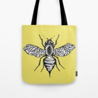 bee Tote Bags featuring Bee by Aubree Eisenwinter