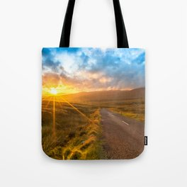 Sunset Wicklow Mountains Ireland Tote Bag