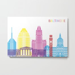 Baltimore skyline pop Metal Print
