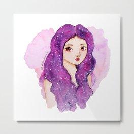 Galaxy hair Metal Print