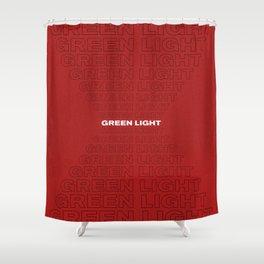 Green Light 1 Shower Curtain