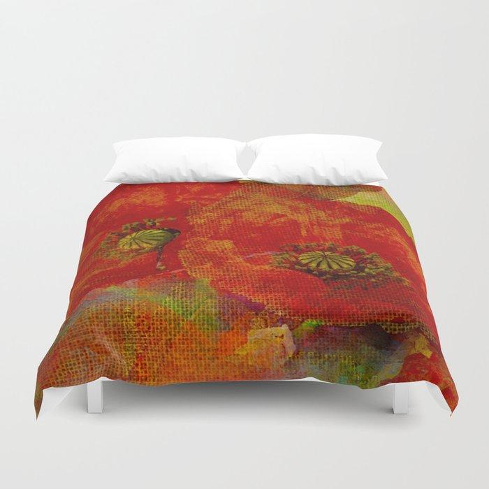 Poppies (red&orange) Duvet Cover