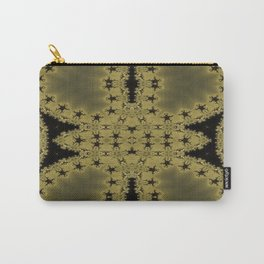 Goldblack Fractal Pattern Carry-All Pouch