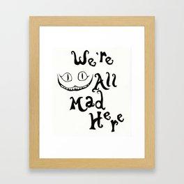 The cheshire cat Framed Art Print