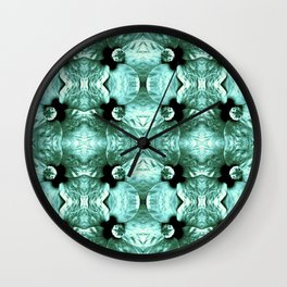 Shiny Green Flower Design, Pattern Wall Clock