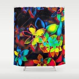Tropical Petals Shower Curtain