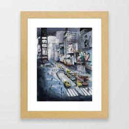 Time square - New York City Framed Art Print