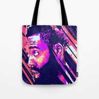 nba Tote Bags featuring James harden nba illu v3 by mergedvisible