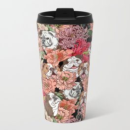 Because English Bulldog Metal Travel Mug