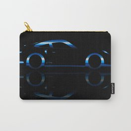 Blue Flash Fast Car Carry-All Pouch