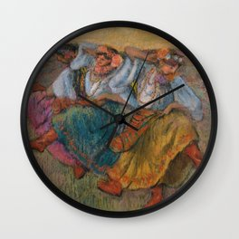 "Edgar Degas ""Russian dancers"" Wall Clock"