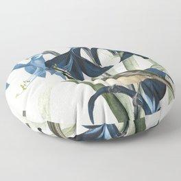 Little Bird and Flowers II Floor Pillow