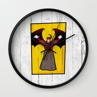 dungeons and dragons Wall Clocks featuring DUNGEONS & DRAGONS - AVENGER by Zorio