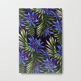 Aechmea Fasciata - Blue/Green Metal Print