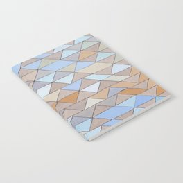 Triangle Pattern no.1 Blues and Browns Notebook
