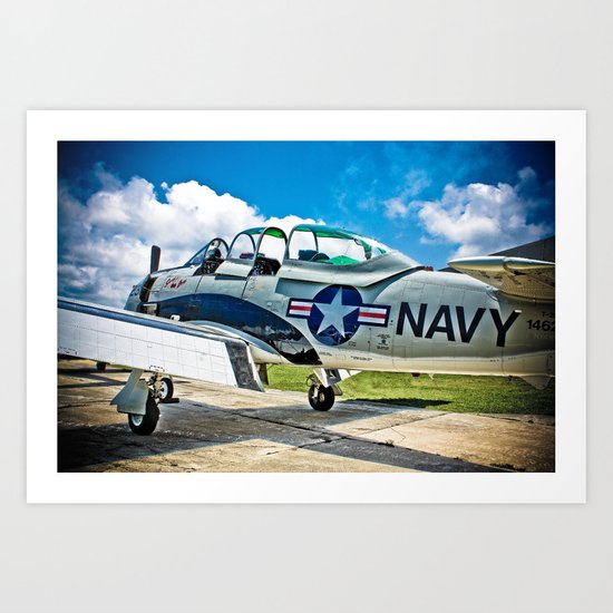 US Navy Airplane Art Print