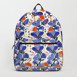 folk spring flowers no2 Backpack