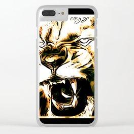 Big Cat Models: Mad Lions 01-03 Clear iPhone Case
