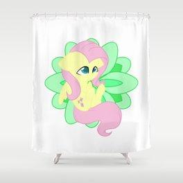 Chibi Fluttershy Shower Curtain