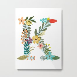 Monogram Letter K Metal Print