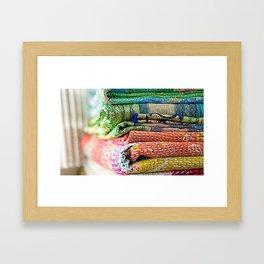 Vintage Kantha Blankets Framed Art Print