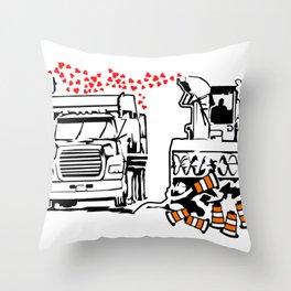 La Souffleuse Montrealaise Throw Pillow