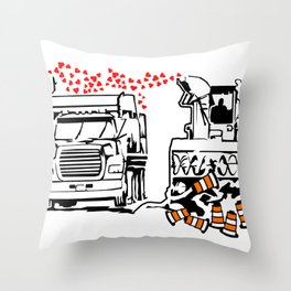 La Souffleuse Montrealaise Throw Pillow
