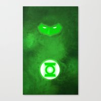 green lantern Canvas Prints featuring Green Lantern by theLinC