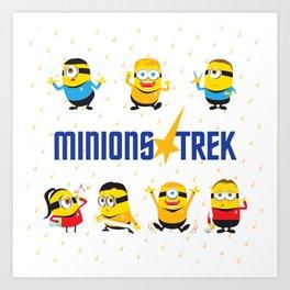 Minion Trek Art Print