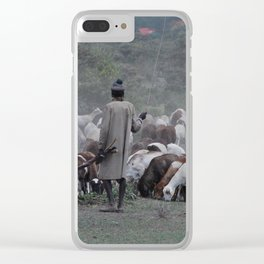 Goat Herder Clear iPhone Case