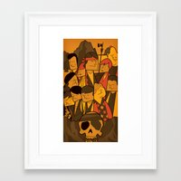 goonies Framed Art Prints featuring The Goonies by Ale Giorgini