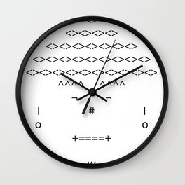 The Only Text Series - Chinchulin Wall Clock