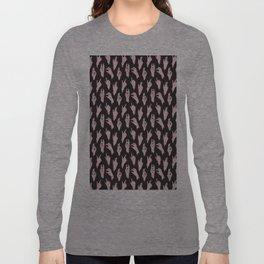 pink n black swipes Long Sleeve T-shirt