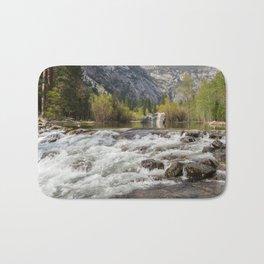 Mirror Lake and Rapids at Yosemite Bath Mat