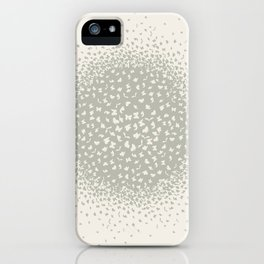 butterflies flying in a circle scatter in different directions. pastel iPhone Case